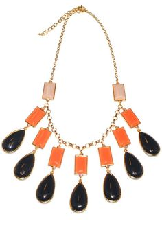 "This statement necklace can be styled over a simple dress.     	Measures : 20"" Long + 3"" extension. Drop earring: 1"" with hook.   Jewel Dangle Necklace Accessories - Jewelry - Necklaces Accessories - Jewelry - Necklaces - Statement Necklaces California"