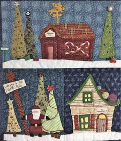 Welcome to the North Pole, Detail (2015) Quilt by Anissa Arnold, Pattern by Piece O'Cake Designs, Quilting by Jackie Arnold