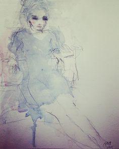 Watercolour tinted life drawing by Jorunn Mulen. Instagram: jorunnmulen Gesture Drawing, Life Drawing, Shabby Chic Art, Edgar Degas, Gustav Klimt, Henri Matisse, Cool Pictures, Drawings, Artist