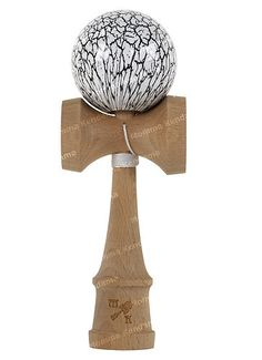 Momma Kendama Design Cracked Black and White