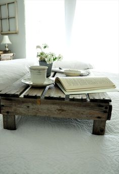 Items similar to Rustic Pallet Wood Bed Tray - Pallet Wood Tray - Reclaimed Wood - Pallet Wood - Rustic Home Decor -Pallet Wood -Serving Tray -Breakfast Tray on Etsy Recycled Pallet Furniture, Reclaimed Wood Furniture, Diy Furniture, Pallet Bedroom Furniture, Reclaimed Lumber, Salvaged Wood, Furniture Plans, Rustic Furniture, Modern Furniture