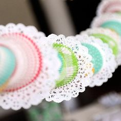 Pretty Baking Cupcake Garland is so sweet and pretty!