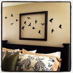 Super bedroom wall decor above bed creative pictures Ideas Bed Wall, Bedroom Wall Art Above Bed, Home And Deco, Diy Wall Art, Fabric Wall Art, Fabric Birds, Wall Spaces, Diy Home Decor, Hello Everybody