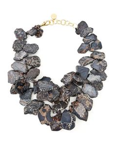 Black Chunky Jasper Necklace by Nest - Available at neimanmarcus.com