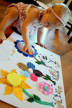 Cute flower sensory board