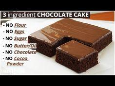 Cette recette de gâteau au chocolat moelleux avec lequel vous vous régalerez assurément, se prépare facilement et rapidement avec 3 ingrédients seulement : Chocolate Cake From Scratch, Chocolate Fudge Frosting, Tasty Chocolate Cake, Homemade Chocolate, Chocolate Flavors, Chocolate Desserts, 3 Ingredient Chocolate Cake Recipe, 3 Ingredient Cakes, Easy Cake Recipes