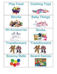 Free printable toy storage labels