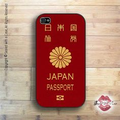 Japanese Passport  iPhone 4 Case iPhone 4s Case by SealedWithaCase, $15.99