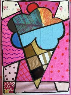 Romero Britto inspired collage