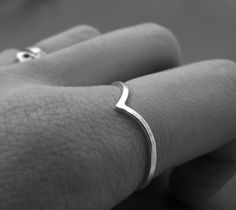 READY TO SHIP - Pointy ring - recycled sterling silver ring (size 9). $26.00, via Etsy.