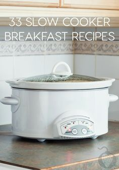 33 Slow Cooker Breakfast Recipes from Totally the Bomb; thanks for including one of my slow cooker frittatas!
