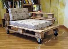 Vote me for Design Contest !!!  Chaise Longue realizzata con Pallet industriali recuperati.