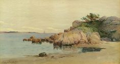 Half Moon Beach, Gloucester by Melbourne H.  Hardwick (1857-1916)