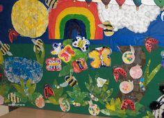 Minibeasts from Claire science art Butterfly Bat, Preschool Bulletin Boards, Classroom Displays, Classroom Ideas, Kindergarten Fun, Autumn Activities, Science Art, Photo Displays, Art Projects