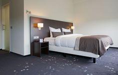 Het bed in een van de executive kamers van het Hampshire Hotel - Groningen Plaza.