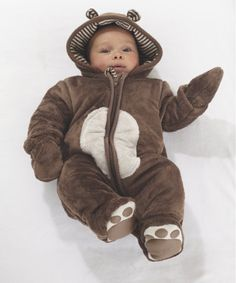 Children's Fashion. Mothercare Bear Snowsuit. Your little one will be cosy and look adorable in this fluffy bear snowsuit. Autumn/Winter 2013. #ChildrensFashion #Kids #BabyClothes  #Baby #Cute