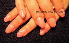 Danielle's Nail Services: June 14th, 2012 - Pink Flower Nails