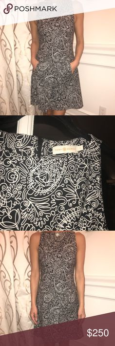 Tory Burch Patterned A-Line Mini Dress •BRAND NEW—NEVER BEEN WORN BEFORE •In perfect condition^ •No tag but it is TRULY brand NEW—you'll see •Has a sort of elegant flair •Not my style :) •Good deal •Yes, it's real Tory Burch Dresses Mini