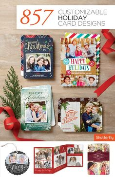 Ring in the holidays with Shutterfly's heartfelt and personalized Christmas and holiday cards. From address tags to gift tags and photo cards, Shutterfly offers a variety of high-quality customizable cards made from the highest quality of of paper and printing. Show some love this holiday season and stock up today!