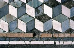 Opus Sectile from Pompeii (House of the Faun) materials were cut and inlaid into walls and floors to make a picture or pattern. Common materials were marble, mother of pearl, and glass.