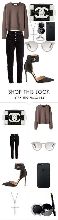 """""""496."""" by plaraa on Polyvore featuring Chanel, Organic by John Patrick, Balenciaga, Linda Farrow, Gianvito Rossi, Bloomingdale's and Bling Jewelry"""