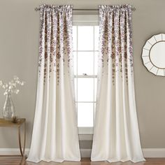 Lush Decor Lush Décor Weeping Flower Room Darkening Window Curtain Panel Pair, x Header, Purple/Gray * Continue to the product at the image link. (This is an affiliate link) Room Darkening Curtains, Blackout Curtains, Drapes Curtains, Valance, Curtains Around Bed, Curtains Kohls, Balcony Curtains, Bedroom Drapes, Bedrooms