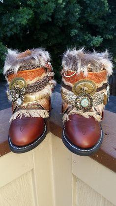 Uniquely Gypsyoutfitters Custom Made Boots - Size Gypsy Boots, Boho Boots, Bohemian Shoes, Boho Gypsy, Custom Made, Heaven, Clothes, Beautiful, Beauty