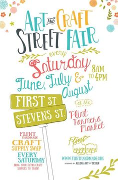 art and craft street fair poster designed by allora art and design for :::::::::::::::::::::::::::::::::::::::::::::::::::::::::: Festival Posters, Art Festival, Web Design, Flyer Design, Event Poster Template, Pamphlet Design, Event Posters, Street Fair, Graffiti