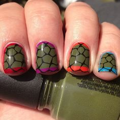 Inspired By A Video Game- Ninja Turtle Nails | Polish Me, Please!