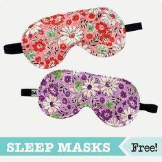 Adult Sleep Eye Mask free PDF download from the Craftsy store!