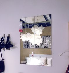 DIY Windowpane Mirror Using IKEA LOTS Mirror Packs And Black Chalk - Beautiful diy ikea mirrors hacks to try