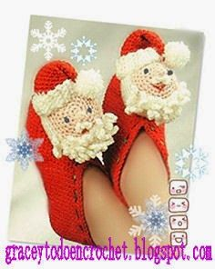 Ideas of slippers for Christmas...Ideas de pantuflas para estas Navidades.