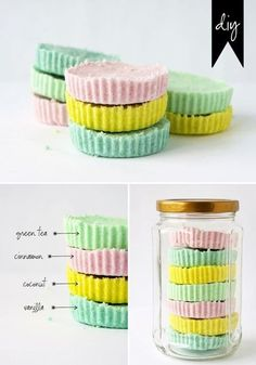 The pastel rainbow effect makes this such a pretty gift. Get the tutorial here.