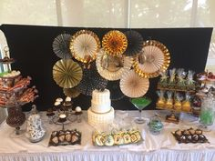 Another view of the candy table