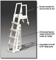 Above Ground Pool Ladders On Pinterest Pool Ladder