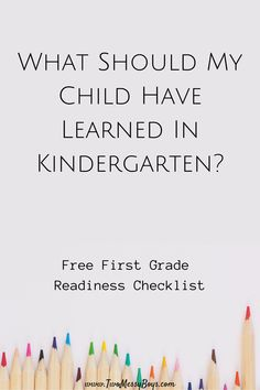 What Should My Child Have Learned In Kindergarten?