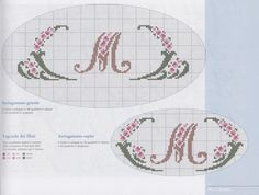 Traditional Script with Floral Decoration • 2/2 - example of use for monogramming