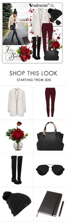 """""""Shein 4"""" by aida-1999 ❤ liked on Polyvore featuring Topshop, Nearly Natural, 3.1 Phillip Lim, Burton, Moleskine, women's clothing, women's fashion, women, female and woman"""