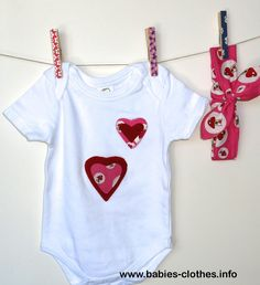 Organic baby bodysuit 3 -6 months / Organic Knotted Headband / baby girls bodysuit / baby romper with hearts / Organic baby clothes - http://www.babies-clothes.info/organic-baby-bodysuit-3-6-months-organic-knotted-headband-baby-girls-bodysuit-baby-romper-with-hearts-organic-baby-clothes.html