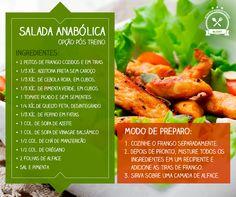 Salada Anabólica Um prato ideal para o seu pós treino.