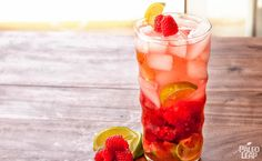 Raspberry Lime Flavored Water - A breezy, fruity treat for a hot summer afternoon that will make you wonder what you ever thought tasted good about store-bought drink mixes.