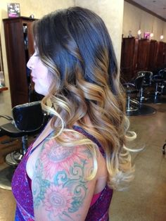 Gorgeous ombre done by Stylist Veronica Cabrera #ombre #ombrehair #mbssalon