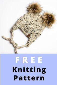 Halloween Knitting Patterns, Chunky Knitting Patterns, Knitting Hats, Knitting For Kids, Knit Patterns, Free Knitting, Sewing Patterns, Winter Christmas, Fall Winter