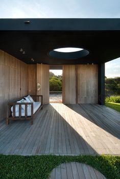 Decked area with sun trap, La Boyita House, Uruguay