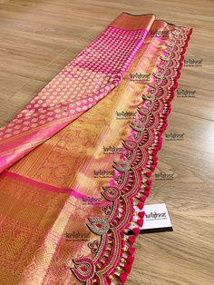 Saree Kuchu New Designs, Saree Tassels Designs, Wedding Saree Blouse Designs, Saree Blouse Neck Designs, Fancy Blouse Designs, Bridal Sarees South Indian, Bridal Silk Saree, Saree Wedding, Indian Sarees