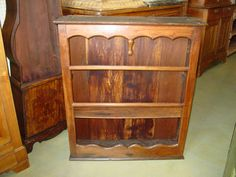 French Cherry Etagere, c. 1820.  For sale by Belle Maison Antiques, Lexington, Kentucky.  #French #antiques #furniture #bookcases #shelf