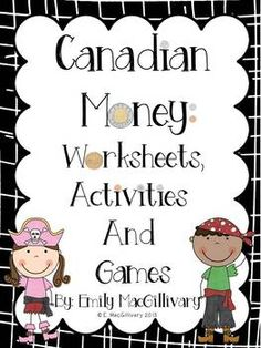 I've provided a number of worksheets (scroll to the end of this page) for children to practice recognizing and counting Canadian money. Money Activities, Money Games, Teaching Activities, Money Worksheets, Kindergarten Worksheets, Pirate Words, Learning Money, Teaching Critical Thinking, Teacher Notebook