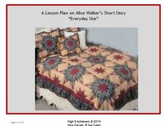 everyday use by alice walker essay ideas Download file to see previous pages in the short story by alice walker, the two daughters hold contrasting heritages and identities the conflict between the two characters can be identified from the beliefs and the values they hold at the present time.