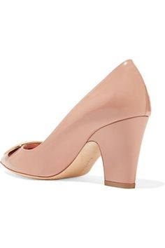 Rupert Sanderson - Pierrot Embellished Patent-leather Pumps - Blush - IT