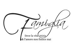 la famiglia ♡~ Where life begins & love never ends The PERFECT sign for my kitchen
